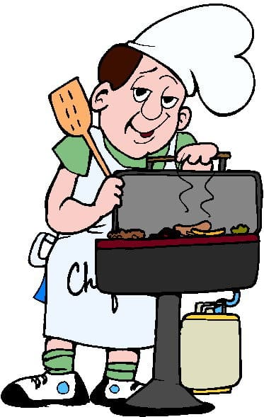 free clipart man grilling - photo #44