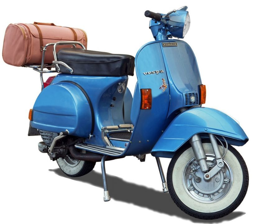 scooter-blauw