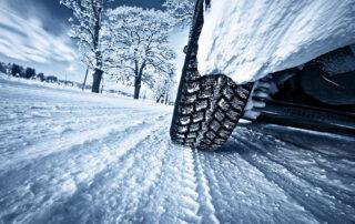 Autobanden in de winter